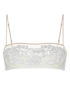 La Perla - Moonlight Non-Wired Bandeau Bra For Women - Size 32 B - Natural