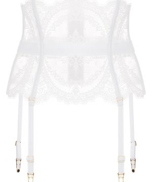La Perla - Neoprene Desire Garter Belt With Straps For Women - Size XS - White