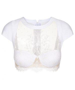 La Perla - Neoprene Desire Long-Line Bra For Women - Size 36 B - White - Padded