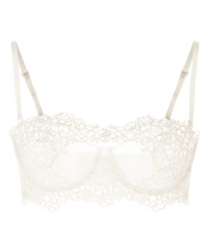 La Perla - Petit Macrame Underwired Long Line Bra For Women - Size 32 B - Natural - Lycra - Detachable Straps