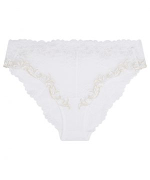 La Perla - Secret Story Mid-Rise Panty Briefs For Women - Size L - Natural