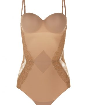 La Perla - Shape-Allure Bodysuit Lingerie For Women - Size 34 B - Beige - Lycra - Detachable Straps