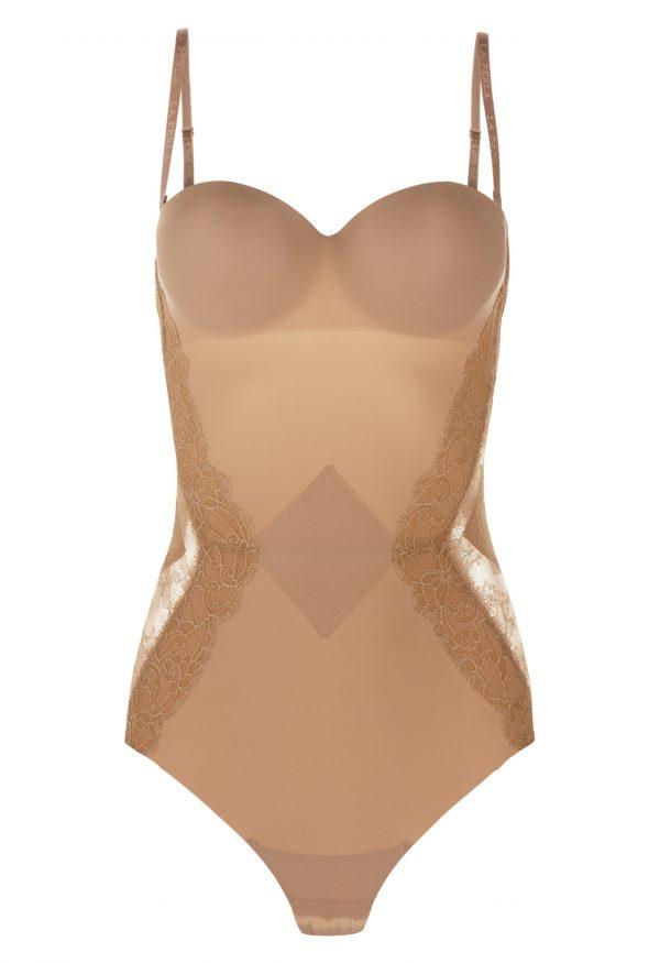 La Perla - Shape-Allure Bodysuit Lingerie For Women - Size 34 B - Beige - Lycra - Detachable Straps