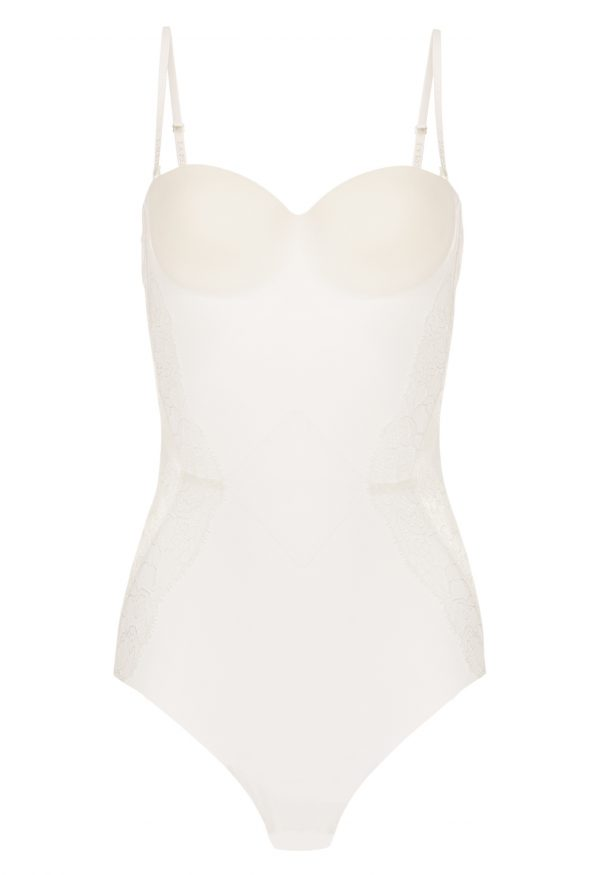 La Perla - Shape-Allure Bodysuit Lingerie For Women - Size 34 B - Natural - Lycra - Detachable Straps