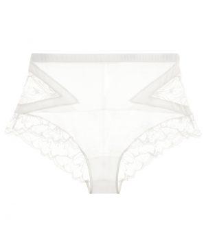 La Perla - Wisteria Off-White Leavers Lace High-Waist Panty Briefs For Women - Size S