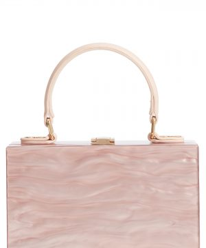 Like Dreams Clara Top Handle Box Clutch - Pink