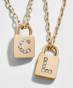 Lock Initial Pendant Necklace