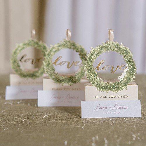 Love Wreath Favor Boxes