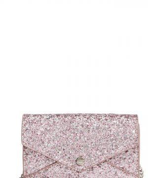 Mali + Lili Josie Glitter Crossbody Bag - Pink