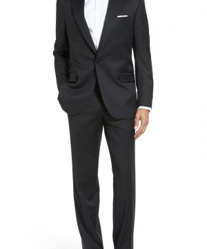 Men's Big & Tall David Donahue Russell Classic Fit Loro Piana Wool Tuxedo