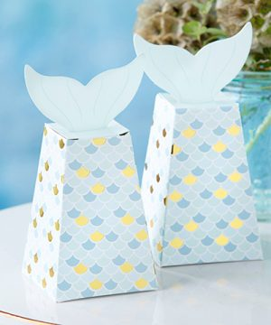 Mermaid Tail Favor Box (Set of 12)