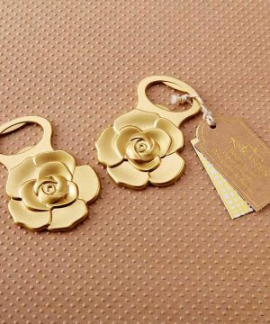 Metallic Gold Rose Bottle Opener