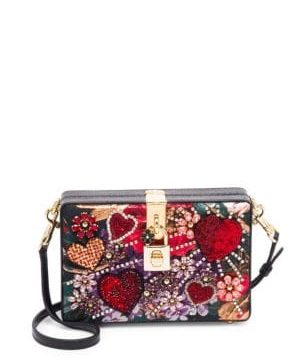Milano Embellished Leather Convertible Clutch