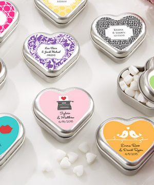 """Mint For You"" Heart Shaped Mint Tin (Available Personalized)"