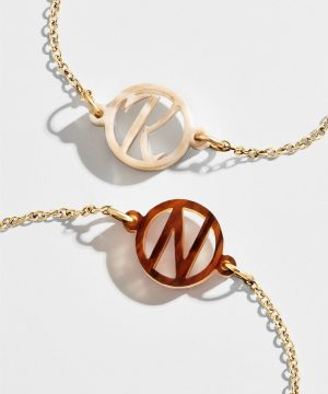Modern Acrylic Initial Bracelet