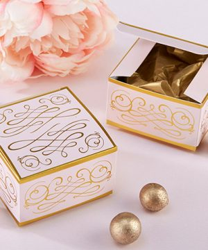 Modern Romance Square Favor Box