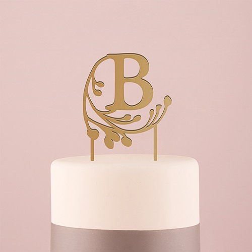 Monogram Acrylic Cake Topper
