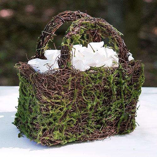 Moss And Wicker Basket