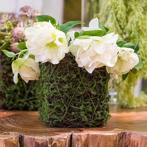 Moss And Wicker Mini Planters