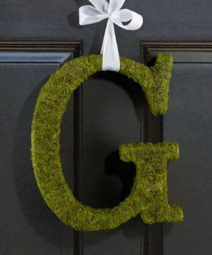 Moss Monogram Letters