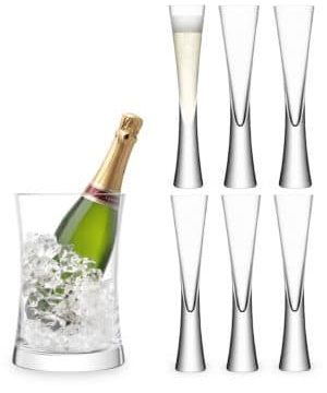Moya Seven-Piece Champagne Glass & Bucket Serving Set