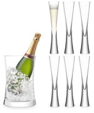 Moya Seven-Piece Champagne Glass & Bucket Serving Set