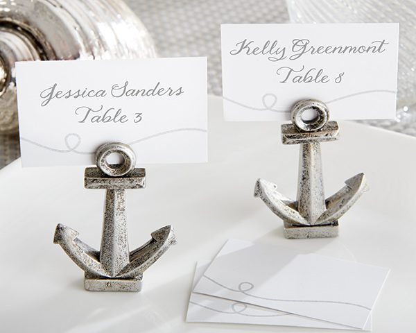 """""""Nautical"""" Anchor Place Card/Photo Holder (Set of 6)"""