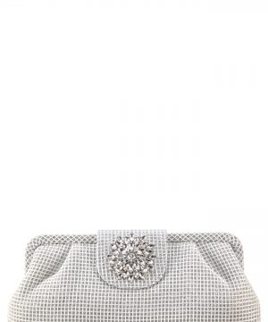 Nina Hampton Embellished Frame Clutch -