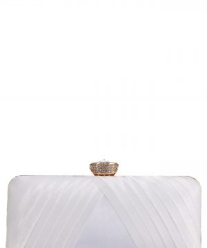 Nina Hypatia Pleated Satin Minaudiere -