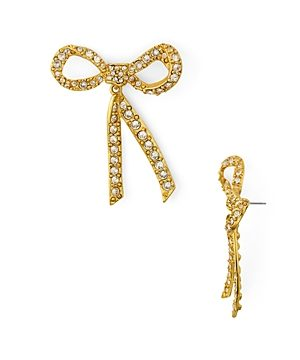 Oscar de la Renta Crystal Bow Earrings