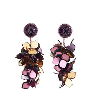 Oscar de la Renta Falling Flower Clip-On Earrings