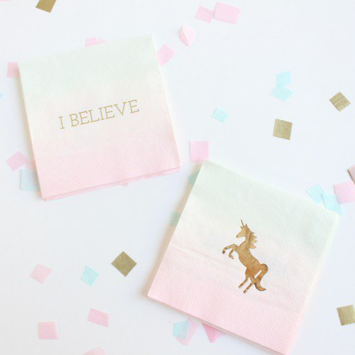 Pastel Unicorn Cocktail Napkins