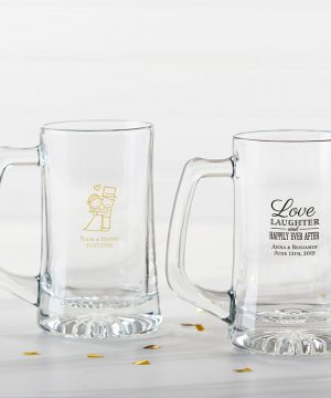 Personalized 15 oz. Beer Stein - Wedding