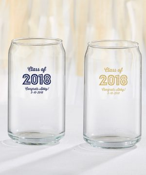 Personalized 16 oz. Can Glass - Class of 2018
