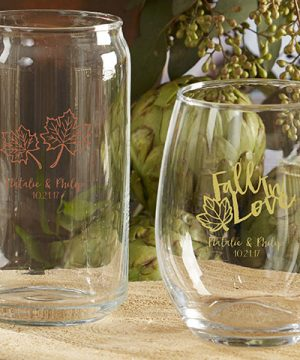 Personalized 16 oz. Can Glass - Fall