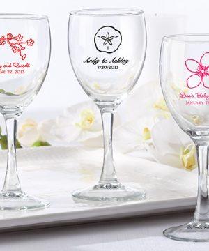 Personalized 8.5 oz. Wine Glass - Wedding