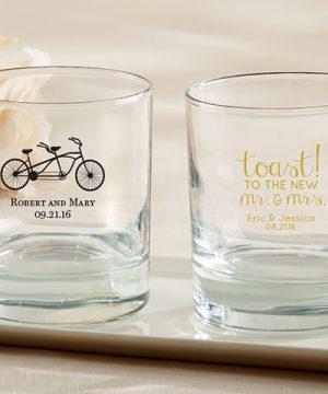 Personalized 9 oz. Rocks Glass - Wedding