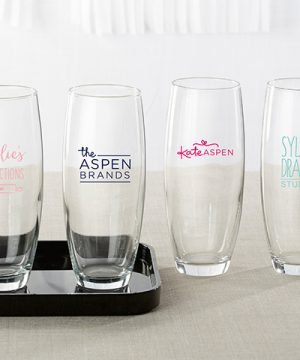 Personalized 9 oz. Stemless Champagne Glass - Custom Design