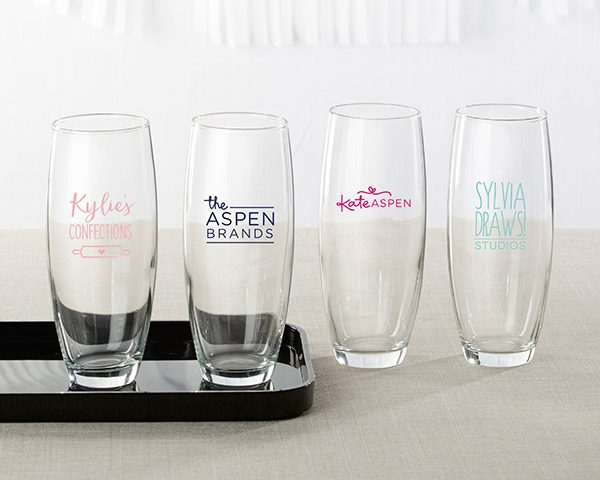 Personalized 9 oz. Stemless Champagne Glass - Custom Design