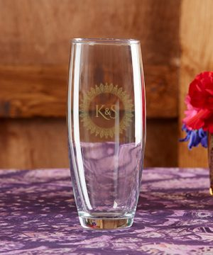 Personalized 9 oz. Stemless Champagne Glass - Indian Jewel
