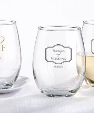 Personalized 9 oz. Stemless Wine Glass - Classic