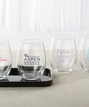 Personalized 9 oz. Stemless Wine Glass - Custom Design