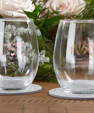 Personalized 9 oz. Stemless Wine Glass - Winter