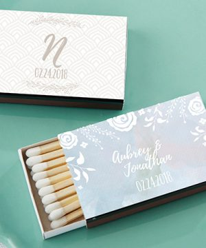 Personalized Black Matchboxes - Ethereal (Set of 50)