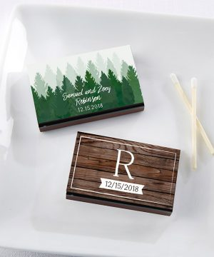 Personalized Black Matchboxes - Winter (Set of 50)