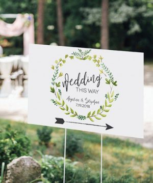 Personalized Botanical Wedding Sign