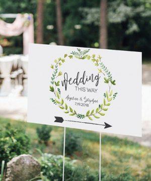 Personalized Botanical Wedding Sign