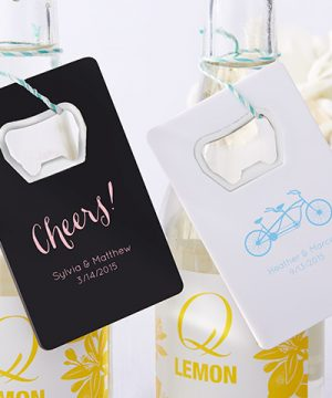 Personalized Bottle Opener-Kate's Wedding Collection (Available in Black or White)