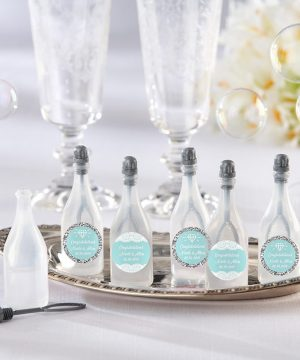 Personalized Bubble Bottles - Something Blue (Set of 24)
