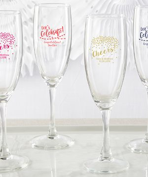 Personalized Champagne Flute - Party Time